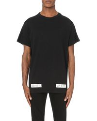 Off-White c/o Virgil Abloh - Black Logo-Print Cotton T-Shirt for Men - Lyst