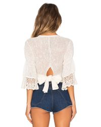 Free People - White Moonlight Dancer Sweater - Lyst