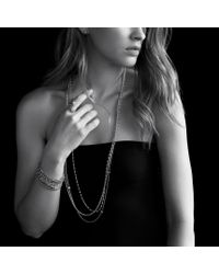 David Yurman - Metallic Starburst Open Ring with Diamonds - Lyst