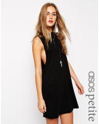 ASOS Black T-shirt Dress With Drop Arm Hole