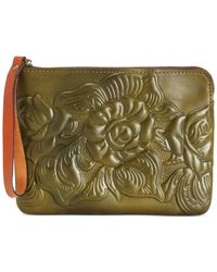 Patricia Nash | Green Tooled Cassini Wristlet | Lyst
