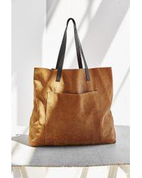 BDG Brown Suede Pocket Tote Bag