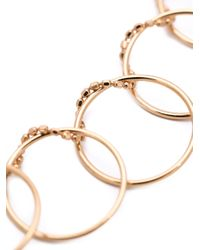 Ginette NY | Metallic Ring Chain Necklace | Lyst