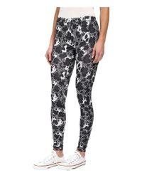 Converse - Black Global Fit Printed Knit Leggings - Lyst