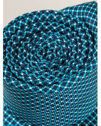 Kiton - Blue Printed Tie for Men - Lyst