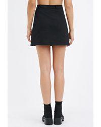 Forever 21 - Black Button-down Denim Skirt - Lyst