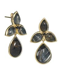 Elizabeth Showers | Black Mariposa Quartz  Pietersite Doublet Dangle Earrings | Lyst