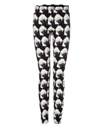 Theyskens' Theory | Black Patterned Irock Pitella Leggings | Lyst