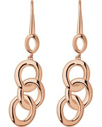Links of London | Pink Signature 18ct Rose-gold Plated Drop Earrings | Lyst