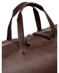 Bonastre Brown Vegetable Tanned Leather Duffle Bag for men