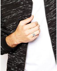 Seven London Metallic Signet Ring In Sterling Silver for men
