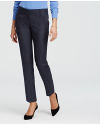 Ann Taylor | Blue Tall Pinstripe Ankle Pants | Lyst