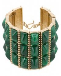 House of Harlow 1960 | Sugarloaf Bars Bracelet Green | Lyst