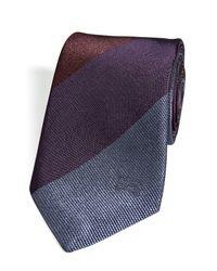 Burberry - Purple Silk Striped Tie in Deep Aubergine for Men - Lyst