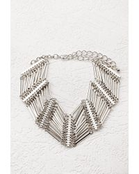 Forever 21 | Metallic Stacked Bar Choker | Lyst