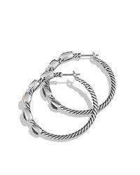 David Yurman - Metallic Confetti Hoop Earrings With Diamonds And Gold - Lyst