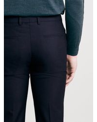 TOPMAN - Blue Navy Slim Smart Trousers for Men - Lyst