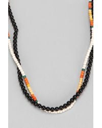 Urban Outfitters - Black Mixed Beaded Necklace Set Of 2 for Men - Lyst