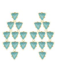Kendra Scott | Blue Vale Chandelier Earrings, Turquoise | Lyst