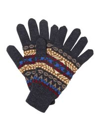 DSquared² Multicolor Jacquard Wool Knit Gloves for men