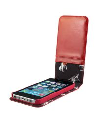Ted Baker Red Flip Leather Case For Iphone 5 5s