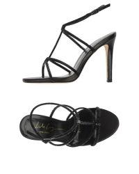 Lola Cruz - Black Sandals - Lyst