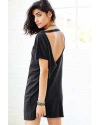 Truly Madly Deeply - Black Open-Back T-Shirt Dress - Lyst