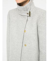 Mango - Gray Wool Blend Straight Cut Coat for Men - Lyst