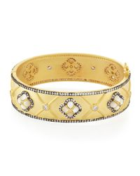 Freida Rothman | Metallic Multi-Clover Station Bangle | Lyst