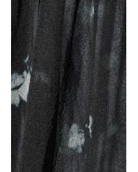 Raquel Allegra Black Tie-dyed Silk-chiffon Blouse