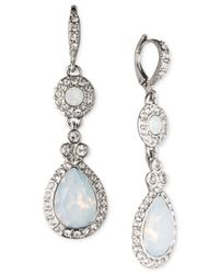 Givenchy | Metallic Rhodium-Tone Teardrop Earrings | Lyst
