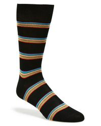 Paul Smith | Black Multi Stripe Socks for Men | Lyst