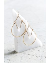 Urban Outfitters - Metallic Crystal Ball Hoop Earring - Lyst