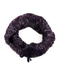Michael Stars | Purple Cable Knit Multi Colored Collar With Woven Drawstring | Lyst