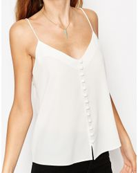 ASOS | White Button Front Cami | Lyst