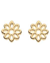 Kit Heath | Metallic Fleur Gold Plated Sterling Silver Stud Earrings | Lyst