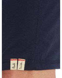 Paul Smith Blue Jersey Cuffed Lounge Shorts for men