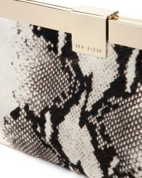Ted Baker Black Exotic Leather Clutch Bag
