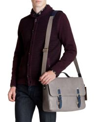 Ted Baker Gray Color Highlight Messenger Bag for men