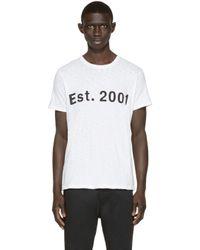 Rag & Bone - White Est. 2001 T-shirt for Men - Lyst