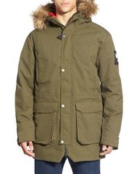 Helly Hansen - Green 'norse' Waterproof Parka With Removable Faux-fur Trim for Men - Lyst