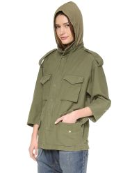 NLST - Green Oversized M65 Jacket - Lyst