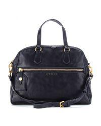 Marc By Marc Jacobs Blue Calamity Rei Leather Shoulder Bag
