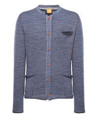 BOSS Orange Blue Cardigan 'karum' In Cotton for men