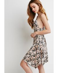 Forever 21 - Pink Crisscross-back Abstract Print Dress - Lyst