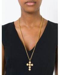 Moschino | Metallic Cross Pendant Necklace | Lyst