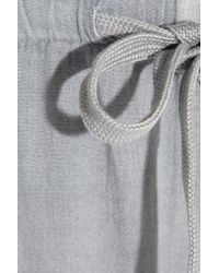 James Perse Gray Twill Wide Leg Pants