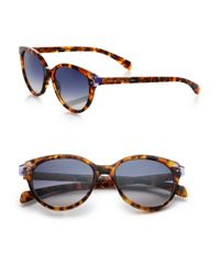 Marc By Marc Jacobs - Brown Contrast Temple 51mm Cat's-eye Sunglasses - Lyst