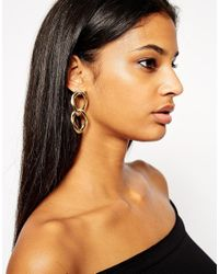 ASOS | Metallic Chain Link Earrings | Lyst