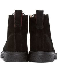 PS by Paul Smith Black Suede Echo Boots for men